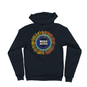 Music Matters Unisex Fleece Zip Hoodie