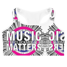 Load image into Gallery viewer, Music Matters Graphic Sports Bra