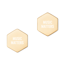 Load image into Gallery viewer, Sterling Silver Music Matters Hexagon Stud Earrings