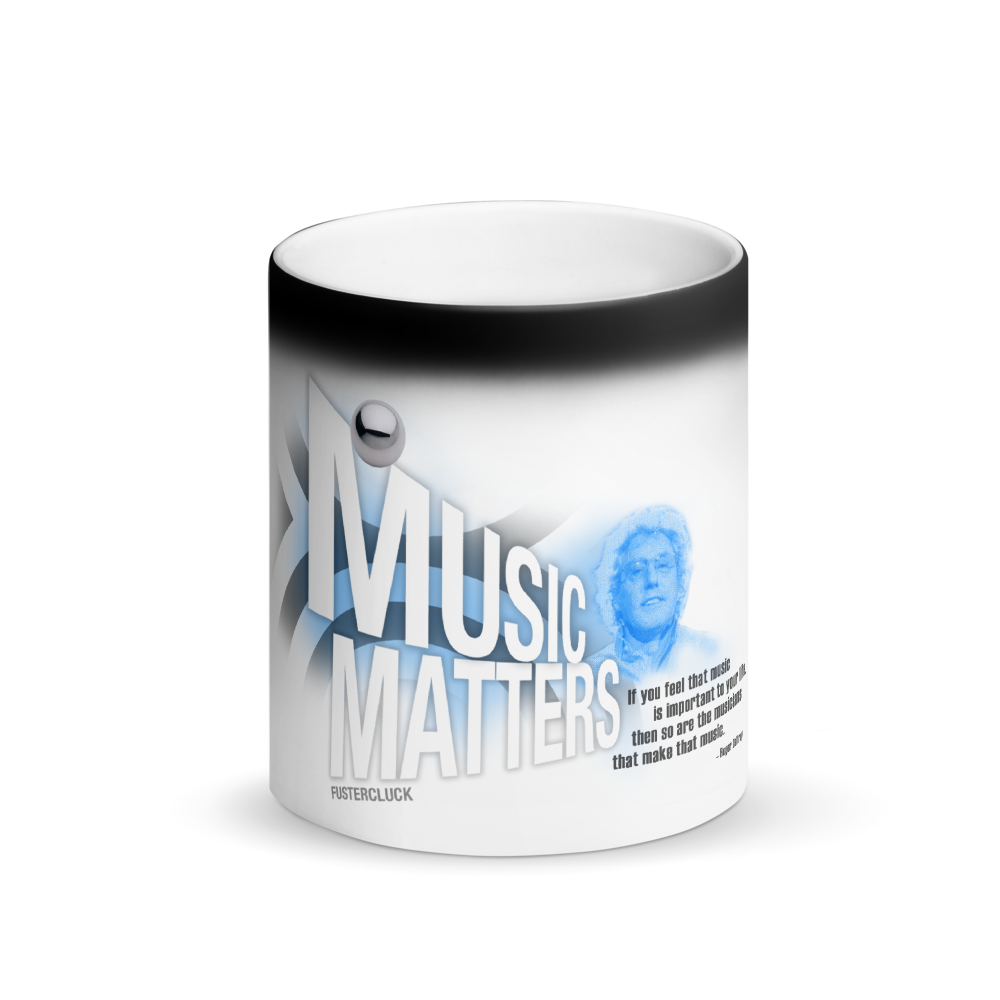 Roger Daltrey Matte Black Magic Mug