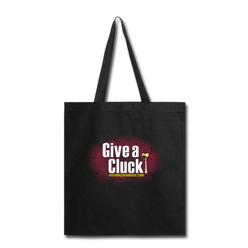 Give a Cluck Tote Bag - black