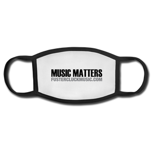 Adult Music Matters Black and White Face Mask - white/black