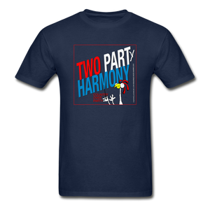 Vote for Harmony 2020 Unisex Adult Tagless T-Shirt - navy