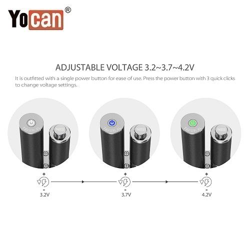 4 Yocan Torch XL 2020 Edition Variable Voltage Levels Yocan Wholesale