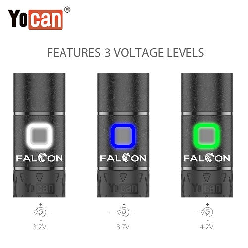 Yocan Falcon Wax and Dry Herb 6 In 1 Vaporizer Kit Variable Voltage Levels Yocan Wholesale