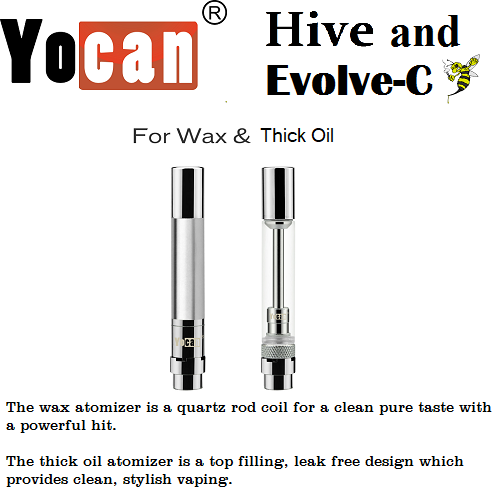Yocan Hive, Hive 2.0, Flick, Evolve C Replacement Cartridges