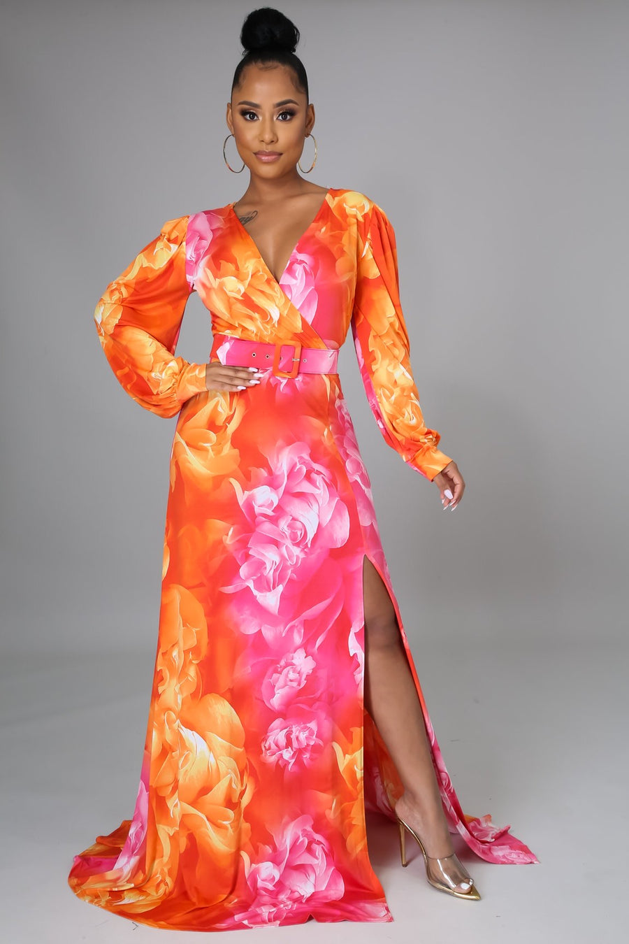 "BKLASSY ""Floral Design"" Maxi Dress"