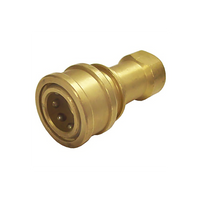 Female Coupling 1/4 St Brass