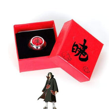 Load image into Gallery viewer, Naruto Adjustable Akatsuki Ring With Box