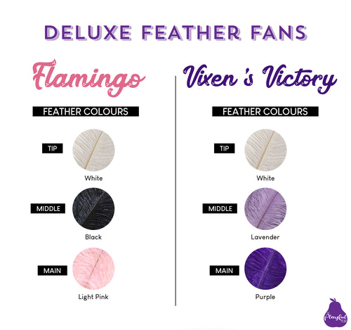 Deluxe Burlesque Feather Fans