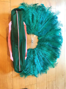 Burlesque Feather Fan Travel Bag
