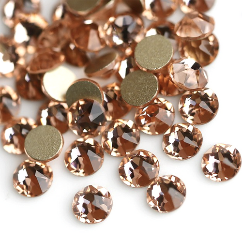 Peach, The Playful Pear® Grade A Flat-Back Glass Rhinestones Size: ss6 - ss20