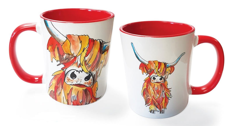Mug with Highland Cow Face