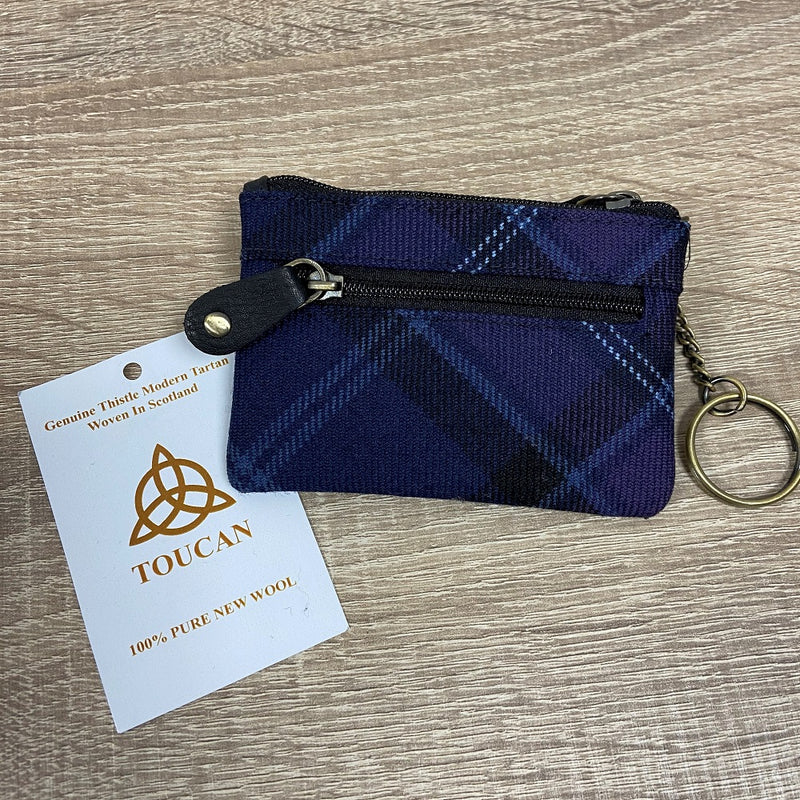 Scottish Tartan Coin/Key Purse