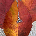Sterling Silver Necklace with 3D Trinity Knot