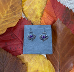 Sterling Silver Purple Amethyst Thistle Earrings