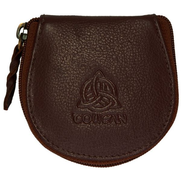 Leather Coin Purse with Celtic Design