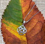 Sterling Silver Necklace with Round Celtic Knot Pendant