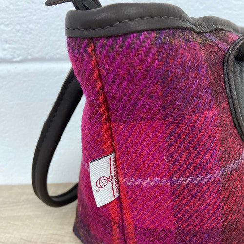 Harris Tweed & Deerskin Leather Kelly Bag