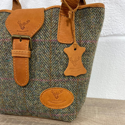 Harris Tweed & Deerskin Leather Olivia Bag