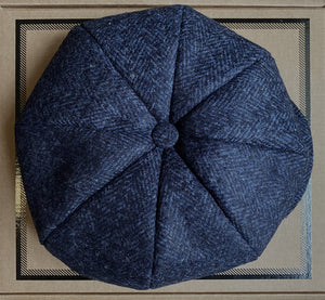 Baker Boy Cap - Blue Herringbone