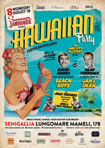 locandina HAWAIIAN PARTY 2018 Summer Jamboree #19 Senigallia