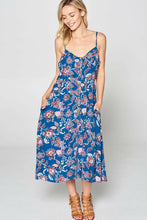 Load image into Gallery viewer, Sleeveless Print Front Button Down Dress w/ Pockets