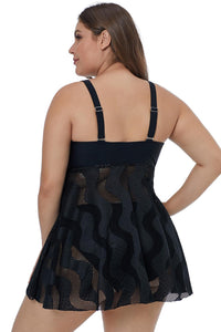 Black Mesh Swim Dress