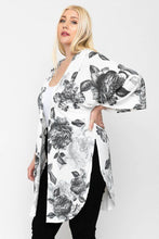 Load image into Gallery viewer, Floral Print, Long Body Cardigan