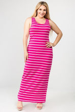 Load image into Gallery viewer, Striped Plus Size Maxi Dress
