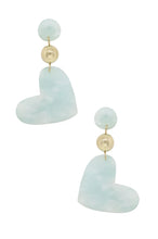 Load image into Gallery viewer, Hopeless Romantic Earrings in Mint and Gold
