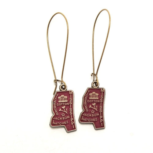 Mississippi State Earring