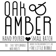 Load image into Gallery viewer, Oak & Amber ~ Soy Candle