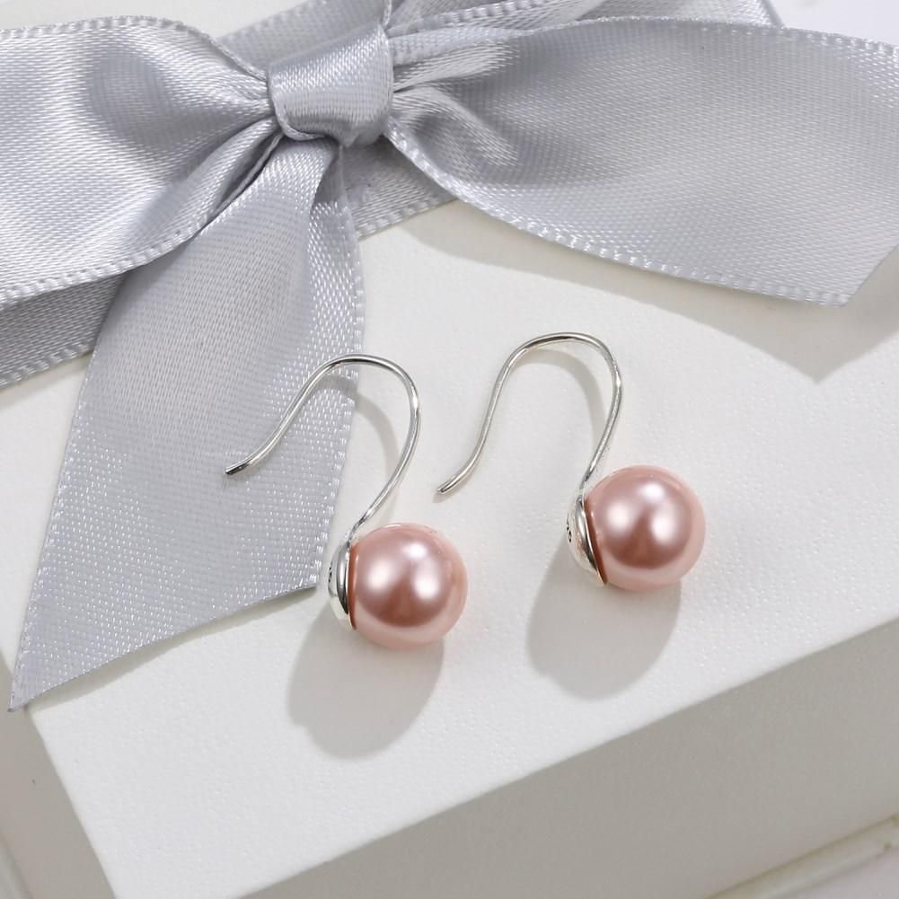 Sterling Silver Pearl Look Earring