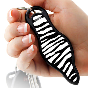 Zebra Self Defense Keychain