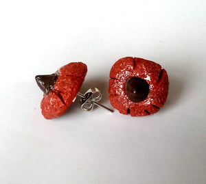 Red Velvet Cookie Earrings