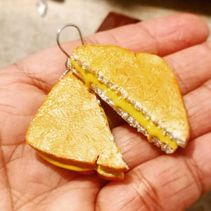 Grilled Cheese Dangle Earrings
