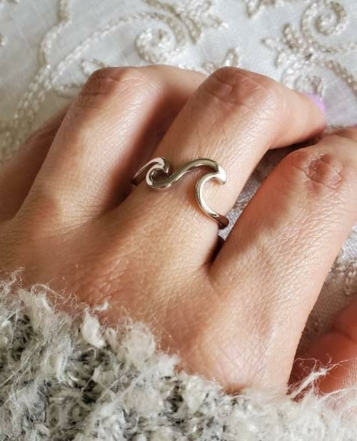 Sterling Silver Bohemian Wave Ring