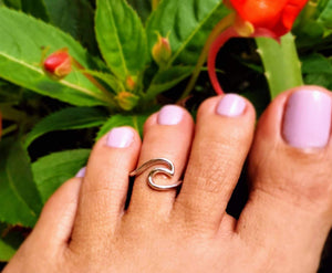 Wave Silver Toe Ring