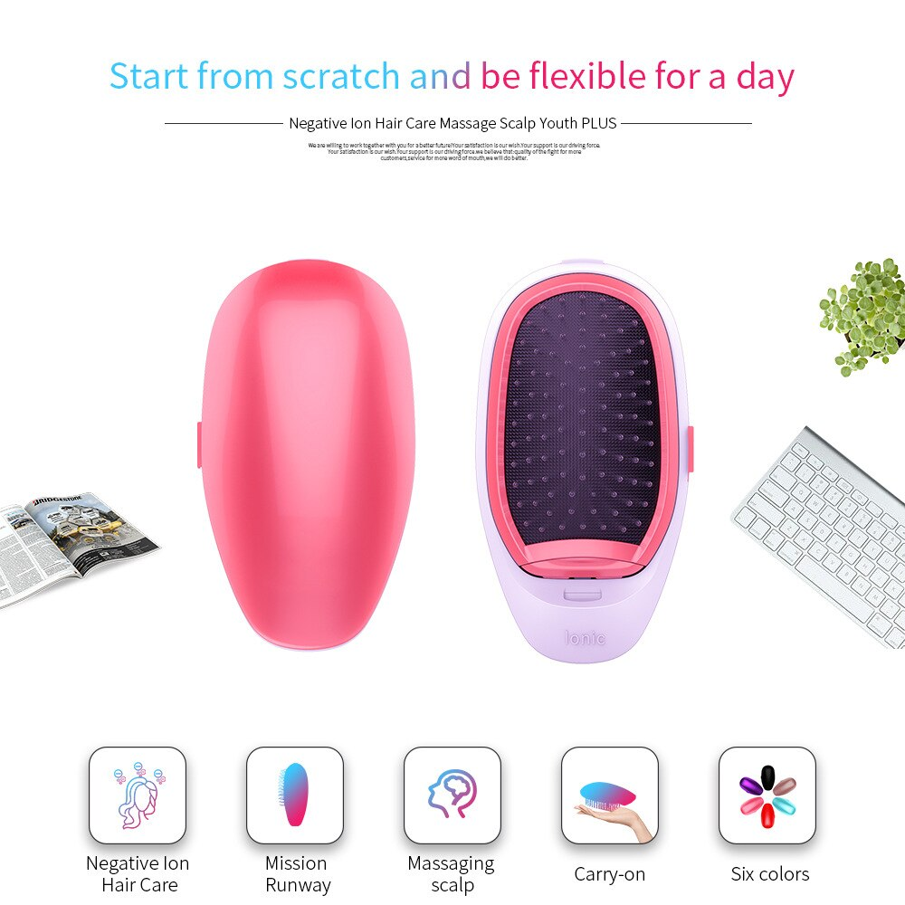 Hair Brush Straightener Small