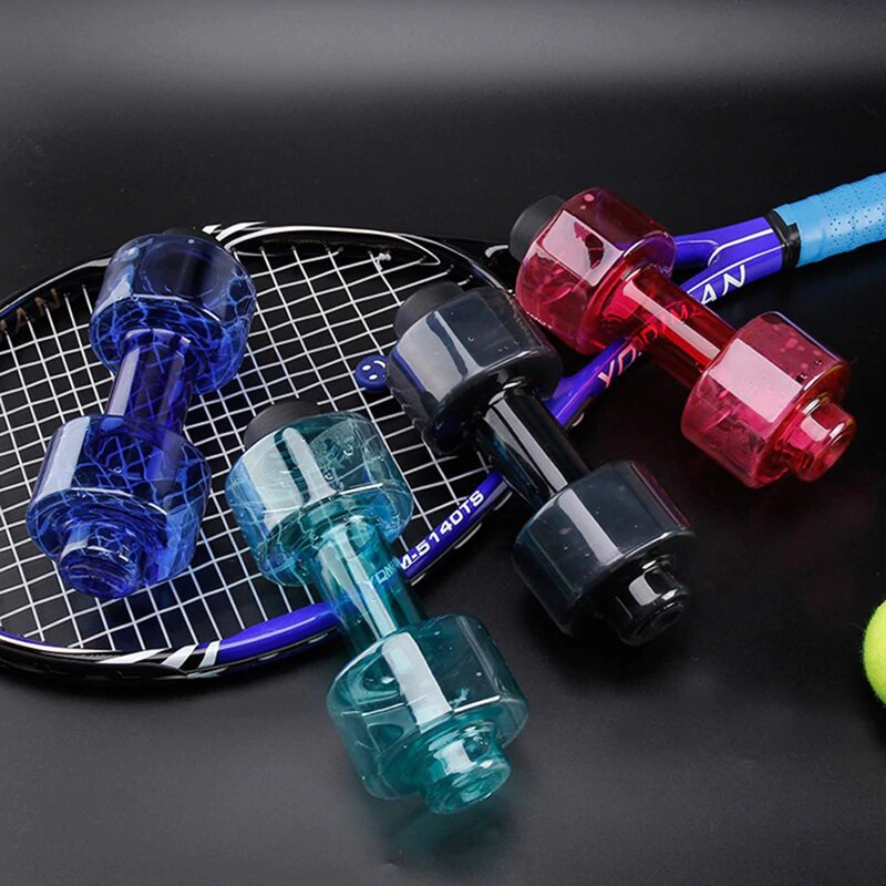 Fitness Dumbbells Portable Water Bottle