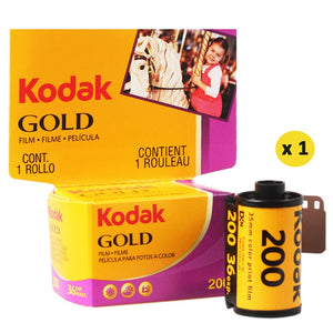 KODAK GOLD 200 35mm Film 36 Exposure per Roll Fit For M35 / M38 Camera (Expiration Date: 2022)