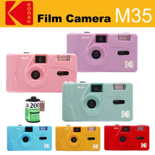 Cargar imagen en el visor de la galería, KODAK Vintage Retro M35 35mm Reusable Film Camera Pink/Green/Blue With FUJIFILM COLOR C200 135-36 35mm Film(Expiry 2022.10)