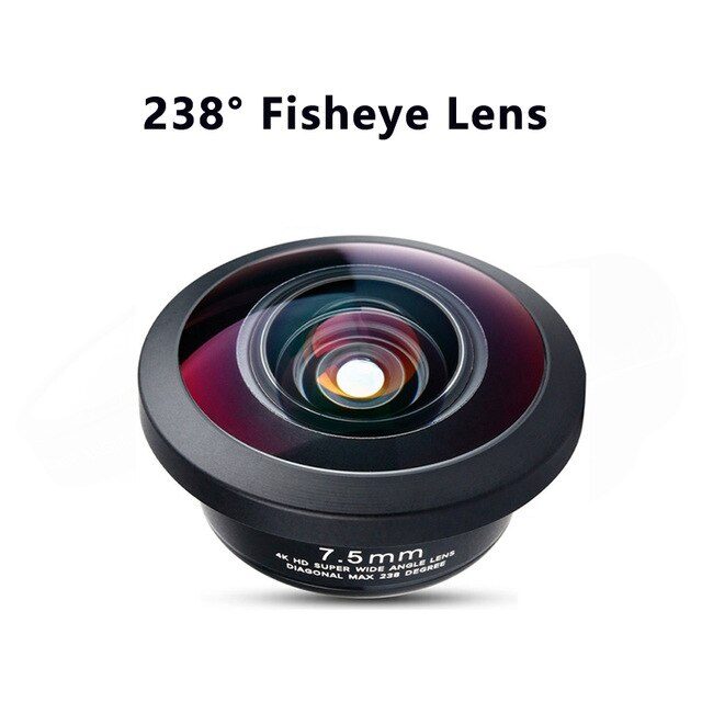 PHOLES Wide Angle Macro Fisheye Lens Camera Mobile Phone 4K HD Lenses For iPhone Samsung Huawei Smartphone Accessories