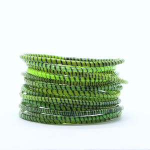 GRASS GREEN BEACH BANGLES
