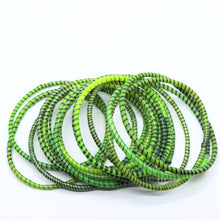 Load image into Gallery viewer, GRASS GREEN BEACH BANGLES