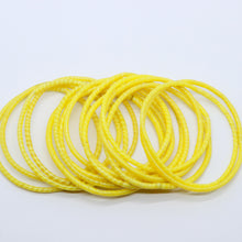 Load image into Gallery viewer, YELLOW BEACH BANGLES