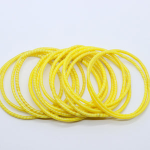 YELLOW BEACH BANGLES