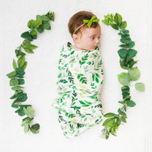 Load image into Gallery viewer, GREEN LEAF SWADDLE SET