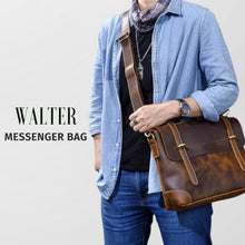 Load image into Gallery viewer, WALTER LEATHER MESSENGER BAG